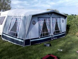 ISABELLA Ambassador 2504 awning size9 (875cm) in sky-grey with fibre poles