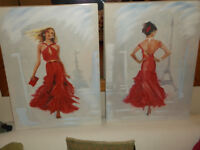 Picture of Women Dancers, Red Dress Pictures, Paris Background