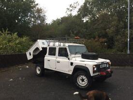 Land Rover 130 crew cab tipper