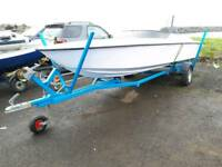 17FT FLECTHER SPEEDBOAT WITH ENGINE TRAILER WILL SWAP OR PX