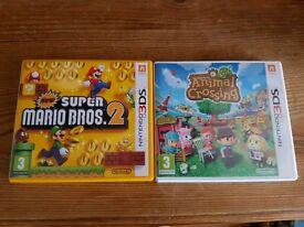 Nintendo 3ds Games Mario and Animal Crossing