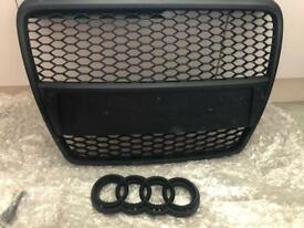 Audi a6 4f s6 rs6 debadged grill honey mesh black new