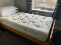 Bed and almost new slumberland mattress