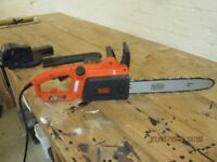 BLACK AND DECKER CHAIN SAW - NEVER USED
