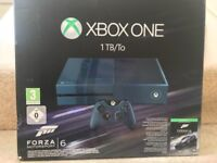 Xbox one 1tb brand new - console only. Blue limited edition forza 6 console