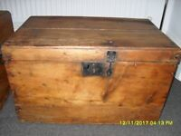 Antique rustic pine chest- multiple use for storage or as a coffee table