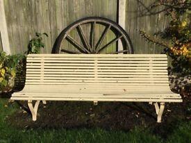 French antique garden bench