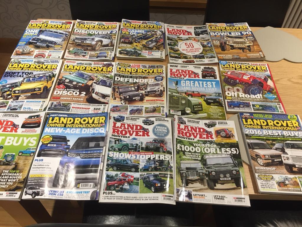 Landrover Owner magazines x15