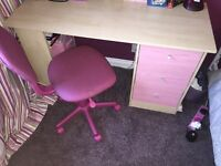 Desk & computer chair both for sale