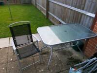 Glass garden table for sale