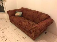 3 seater sofa plus matching arm chair only £50