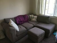 Corner sofa in good condition for sale. £80. Available 12th July. Collection only.