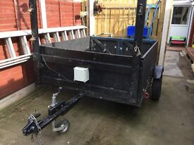 multi purpose trailer, 7 ft by 5 ft by 2 ft, approx