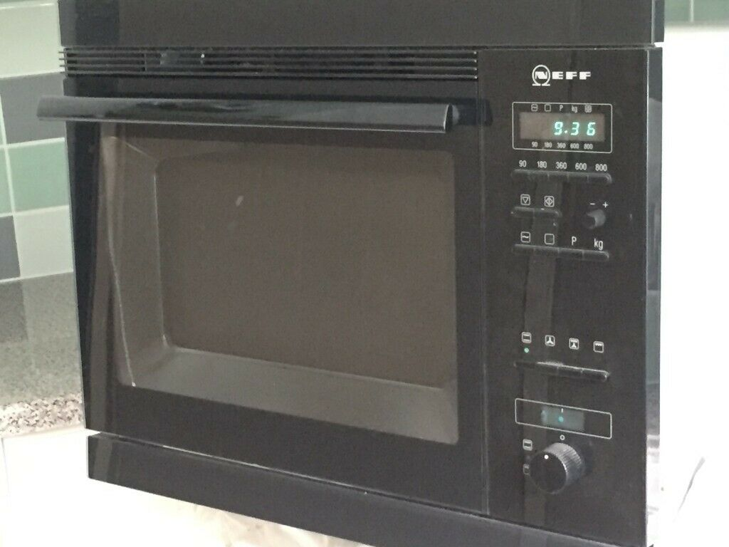 Integrated Microwave Combination Oven Neff Hft759 In