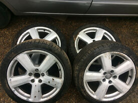 audi tt mk2 18 inch sline alloy wheel set with tyres for sale call parts