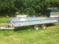 Ifor Williams tilt bed trailer ct166g