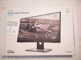 Dell S2716DG MONITOR - GAMING - G-Sync Monitor - 144HZ - 1MS RESPONSE TIME - 2560 x 1440 - BRAND NEW
