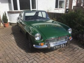 MGb GT restored 1970 overdrive reduced for quite sale sadly