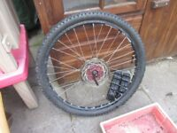 26 inch mountain bike disc brake wheel 180mm disc Front Bicycle