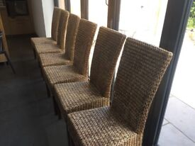 Banana leaf High backed dining chairs
