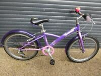 GIRLS DECATHALON BIKE IN VERY GOOD USED CONDITION.. (SUIT AGE. 6 / 7+)..
