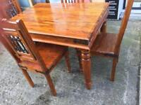 Indian style dining table and 4 chairs