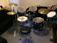 Full hand painted drum kit