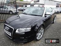 Audi RS4 RS4 QUATTRO 2dr CABRIOLET + FULL SERVICE HISTORY + FLAT BOTTOM S/WHEEL (black) 2007