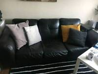 Black leather sofa collection only