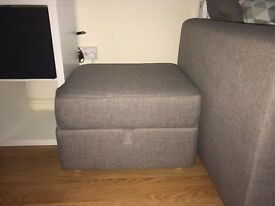 Foot Pouffe - £50 1 year old. Hardly used. Quick sale required.