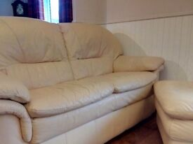 GLASSWELL TWO SEATER LEATHER SOFAS