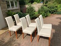 Set of 6 Calligaris dining chairs