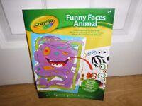 Crayola Funny Faces Colouring & Sticker Book New Condition