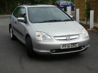 Honda Civic 1.6 2001-12 month mot