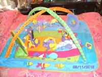 Baby Activity Play Mat, with Musical Mat, Mirror & Toys