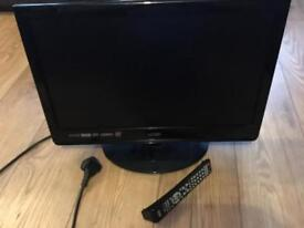 "Black Logik 21"" tv with dvd"