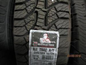 LT225/75R165 SINGLE ONLY NEW HERCULES A/S TIRE
