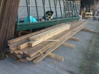 """4"""" x 2"""" timber 16 - 18ft lengths just £6 per length"""