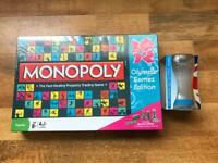 **New Sealed Monopoly London 2012 Olympic Games Collectors Edition + Glass**