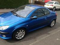 PEUGEOT 206cc 206 cc convertible 1 year mot private plate worth £500 may swap px