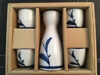SAKE SET (flask and four cups)