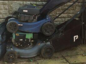2 lawn mowers