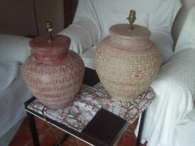 2 Terracotta lamps