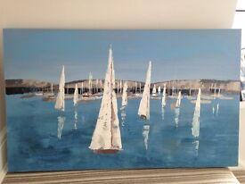 Boat scene canvas