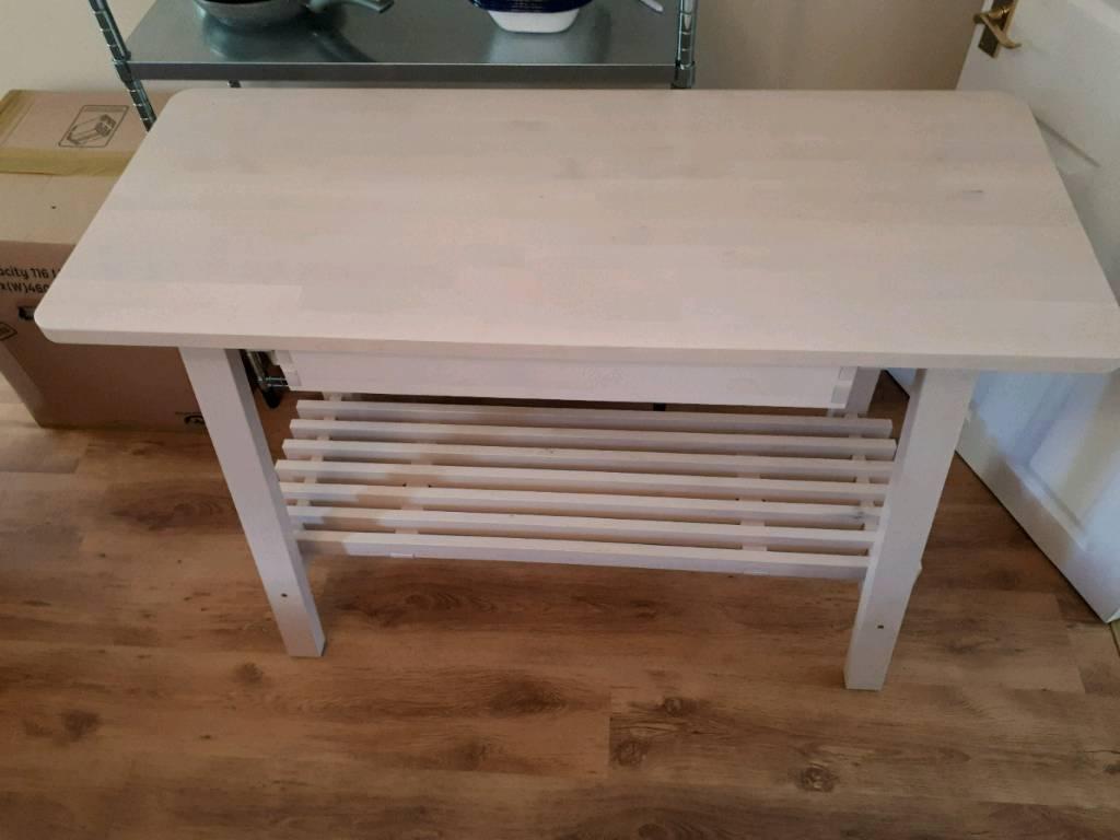 Ikea Birch Credenza : White birch sideboard ikea norraker in downend bristol gumtree