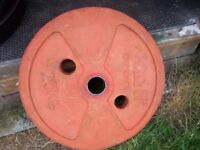Olympic Rubber Coated plates 2 x 25kg