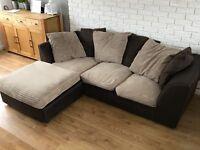 Sofa corner left fabric