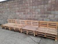 Wedding pallet sofa garden recycled reclaimed chic rustic vintage home furniture