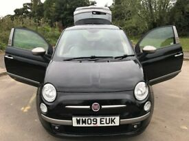 Superb Value Designed By DIESEL 2009 Fiat 500 Special Edition 55000 Miles F.S.H At Fiat HPI Clear