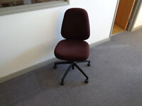 Armless Wheeled Typist Chair